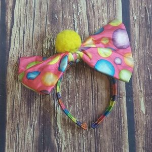 Accessories - Polka Dot bow headband pastel color